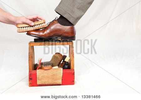 Antique Shoe Shine Box