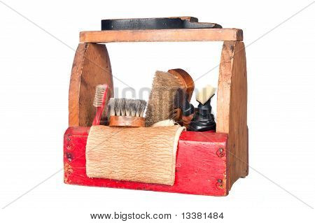 Antike Schuhkarton/-Service