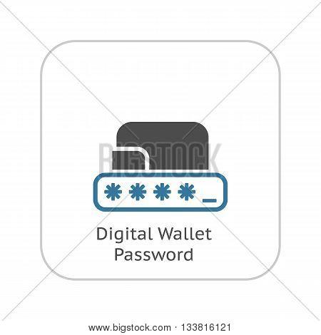 Modern Flat Digital Wallet Security concept Illustration. Mobile banking, online finance, e-commerce banner template. For mobile app, web, blog post.