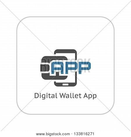 Modern Flat Digital Wallet APP concept Illustration. Mobile banking, online finance, e-commerce banner template. For mobile app, web, header, blog post.
