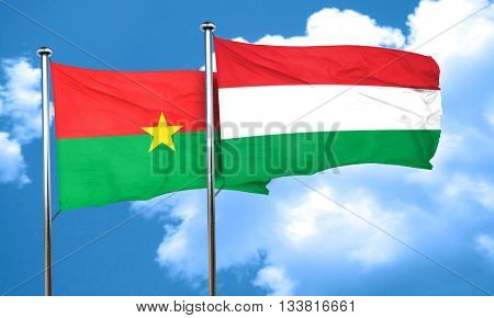 Burkina Faso flag with Hungary flag, 3D rendering