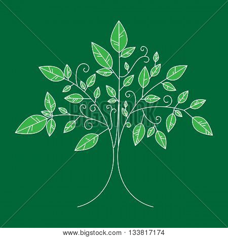 Vector Tree Emblem, Tree Icon For Logo