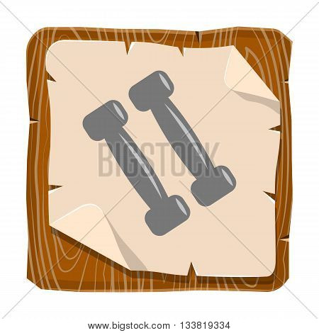 Dumbbells colorful icon. Vector illustration of bodybuilding equipment