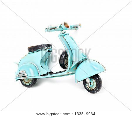 small retro scooter isolated on white background