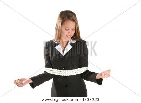 Tied Business Woman