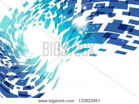 Blue technology background , geometry vector design
