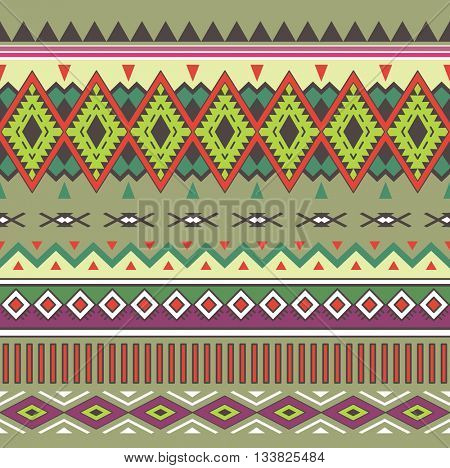 Tribal Boho Seamless Pattern. Ethnic Geometric Ornament. Aztec print. Boho Vector Pattern. Texture for Fabric, Wallpaper and Wrapping. Fashion Indian Pattern.