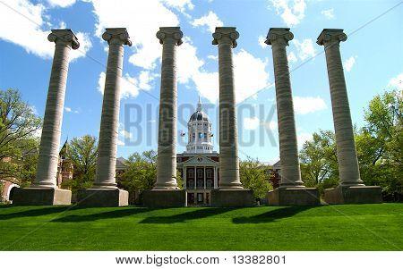 Columns on campus