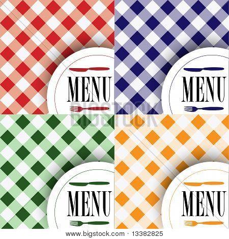 Set Of Menu Card Designs
