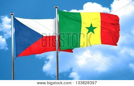 czechoslovakia flag with Senegal flag, 3D rendering