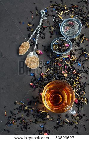 Tea Flavored With Flowers And Herb