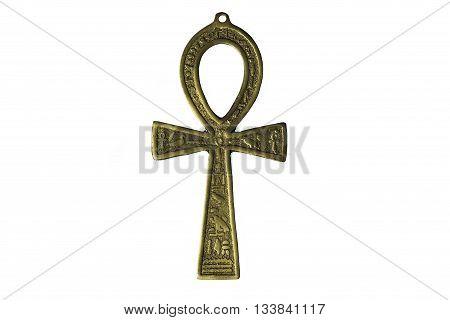 Egyptian symbol of life Ankh isolated on white background