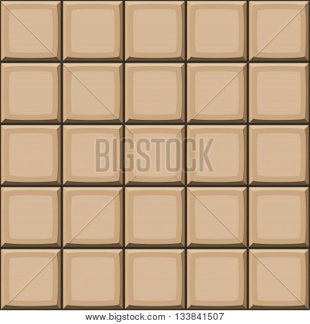 Cartoon Hand Drown Beige Seamless Tiles Texture