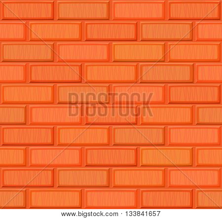 Cartoon Hand Drown Multicolored Realistic Seamless Brick Wall Texture