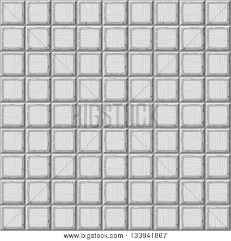 Cartoon Hand Drown Grey Seamless Decorative Old Tiles Texture