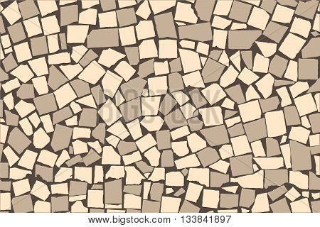 Texture Of Ivory And Grey Two Colored Asymmetric Decorative Tiles Wall