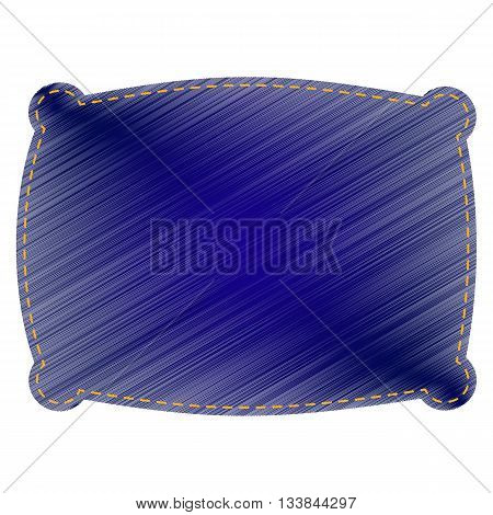 Pillow sign illustration. Jeans style icon on white background.