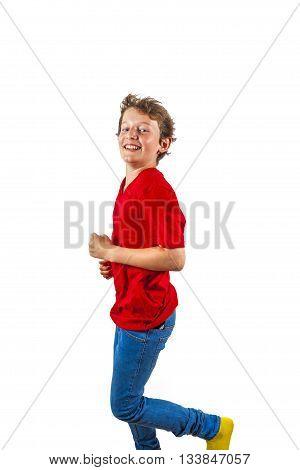 Happy Joyful Boy Enjoy Life