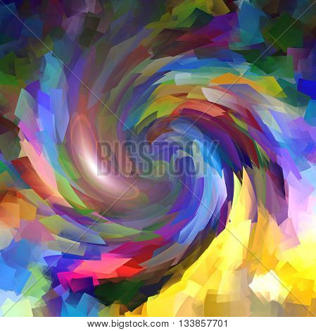 Abstract coloring background of the metallic something gradient with visual twirl effects,good for your idea design