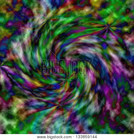 Abstract blurred coloring background of the greens gradient with visual twirl effects,good for your idea design