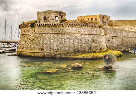 Angevine-aragonese Castle In Gallipoli, Salento, Apulia, Italy
