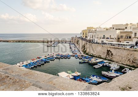 Scenic view of Gallipoli Salento Apulia Italy
