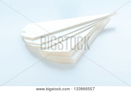 cones to hold sugared almonds on white backgroundpaper