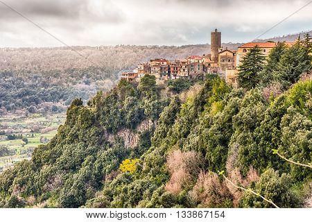 The Town Of Nemi On The Alban Hills, Italy