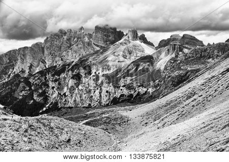 Alpine landscape in the Dolomites, Italy, Europe
