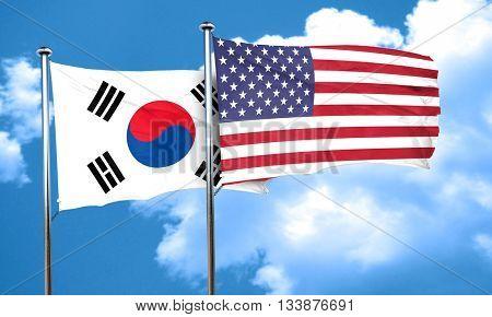 South korea flag, 3D rendering