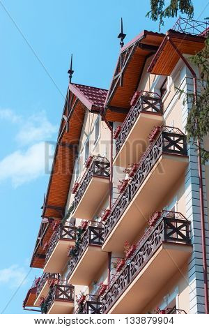 abstraction with balconies, part of the building