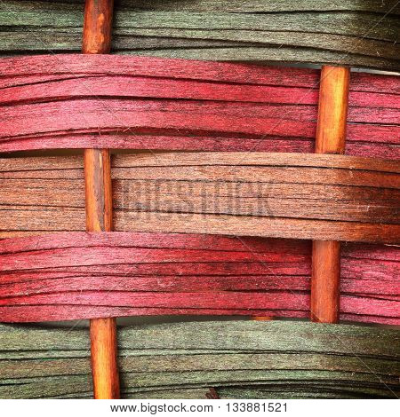 Woven wooden wicker fence panel for the hand crafts
