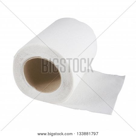 Tissue paper roll on a white background.