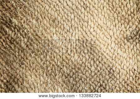 Background cloth sack brown dirty old rag.