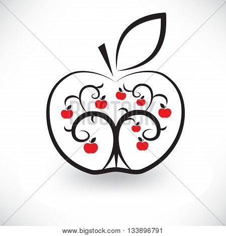 Illustration Of Art Apple