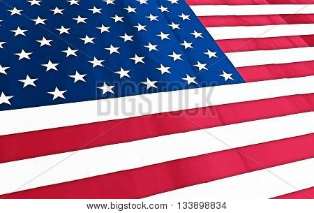 american flag on a macro view for usa 2016 election