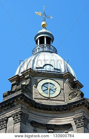 View of St Philips Cathedral clock tower Birmingham England UK Western Europe.