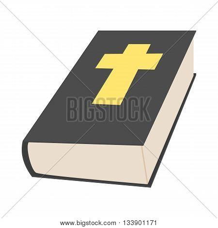 Bible book icon in cartoon style on a white background