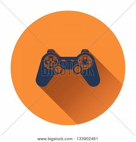 Gamepad icon. Flat design in UI colors. Vector illustration.