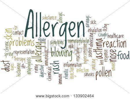 Allergen, Word Cloud Concept 9