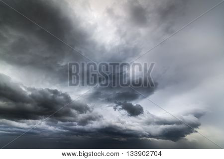 Photos heavy storm clouds Ukraine early spring