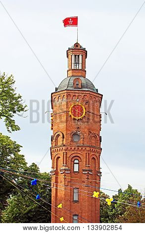 Old fire tower with clock (1911), Vinnytsia, Ukraine