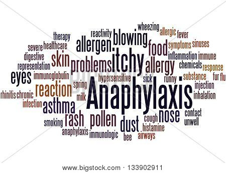Anaphylaxis, Word Cloud Concept 5