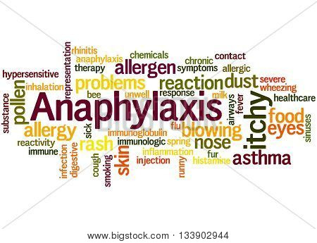 Anaphylaxis, Word Cloud Concept 6