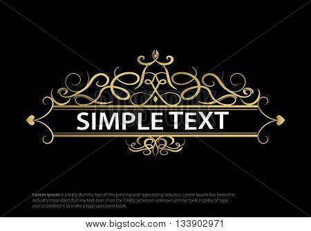 Wicker lines and old decor elements in vector. Vintage borders, frame or rosette with text. Vector page decoration. Decoration for logos, wedding album or restaurant menu. Calligraphic design element