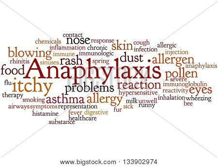 Anaphylaxis, Word Cloud Concept 7