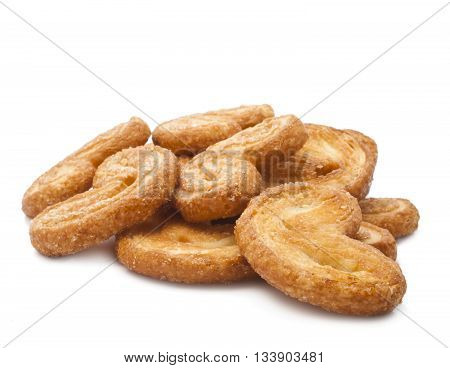 tasty cookies in the shape of a heart on a white background