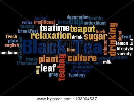 Black Tea, Word Cloud Concept 2