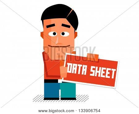 Data sheet. Flat vector illustration.
