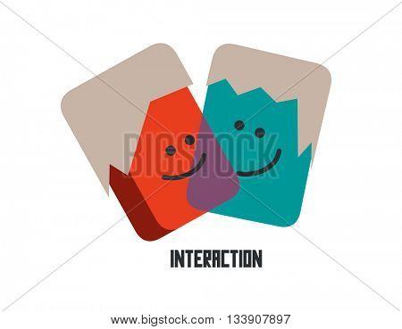 Interaction graphic. Flat vector illustration.